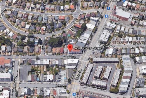 San Francisco Ocean Yoga Map